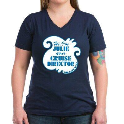 CafePress Love Boat Julie Cruise Director V-Neck T-Shirt (1493211865)