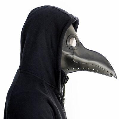 Plague Doctor Mask Bird Beak Steampunk Punk Gothic Halloween Cosplay Masks Black