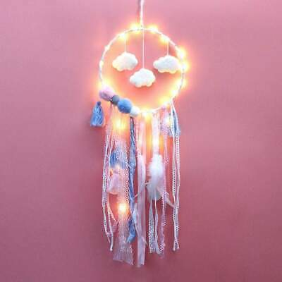 Pink Cloud LED dream catcher Baby girls pink room decor nursery mobile wall hang Collectibles