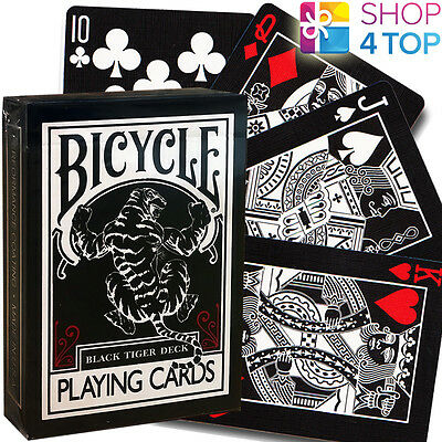 BICYCLE BLACK TIGER RED PIPS ELLUSIONIST PLAYING CARDS DECK MAGIC TRICKS USPCC
