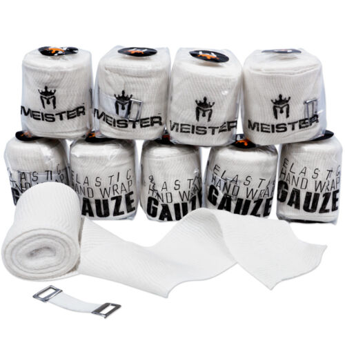 MEISTER ELASTIC GAUZE HAND WRAPS - MEXICAN STYLE - 10 PACK Boxing MMA Muay Thai
