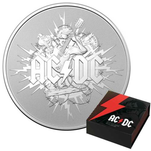 AC/DC – 2021 Australia 1oz Silver Frosted Uncirculated Coin