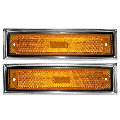- NEW Front Side Marker lights Set for 81-91 Chevrolet C10 C20 C30 GMC C1500 C2500