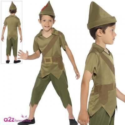 Jungen Robin Hood of Sherwood Kinder Kostüm Prinz von Dieben Peter Pan Carnival