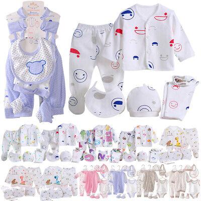 Newborn Baby Layette Set Boys Girls Cotton Clothes Suit Outfits Sets 8PCS 0-3M