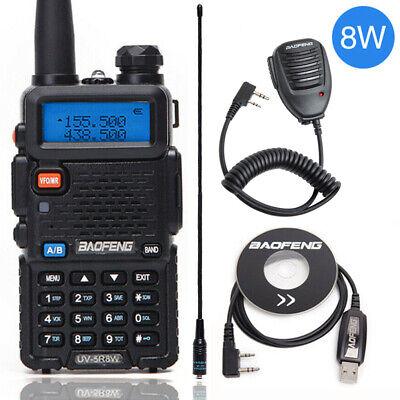 US Baofeng UV-5R 8W VHF UHF Handheld Scanner Analog Walkie Talkie Two Way Radio