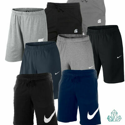 Mens Nike Gym Shorts Athletic Dept Cotton Jersey Sports Plain Grey Black Navy