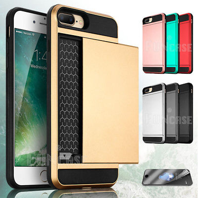 Wallet Case Credit Card ID Holder Slim Case Phone Cover for Apple iPhone 7 (Iphone 7 Phone Case With Card Holder)