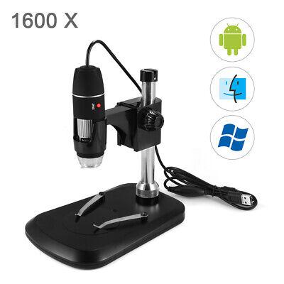 1600x 8 Led Usb2.0 Zoom Digital Microscope Hand Held Biological Endoscope Te894