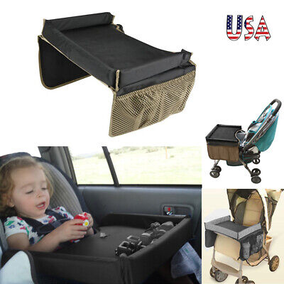 Children Waterproof Table Car Seat Tray Storage Kids Toys Infant Holder USA F2R3 Car Seat Tray Table