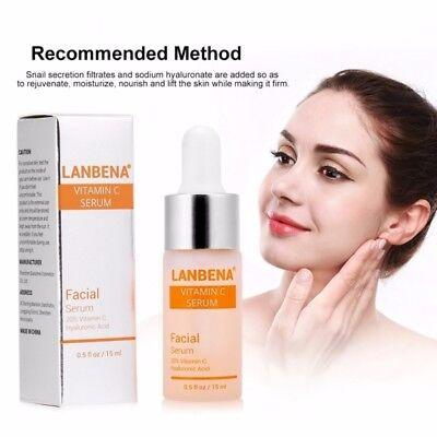 Pure Vitamin C Hyaluronic Acid Serum for Face BEST Anti Aging Wrinkles 15mL