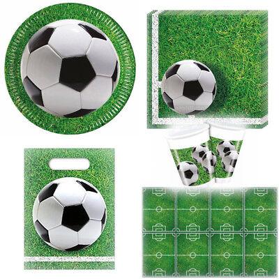 Fußball Party Set Geschirr Pappteller Tischdecke Servietten Trinkbecher