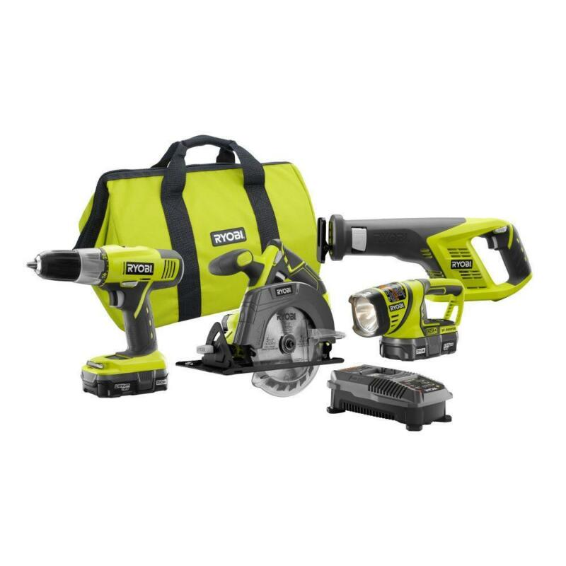 18-Volt ONE+ Lithium-Ion Cordless 4-Tool Super Combo Kit  1.
