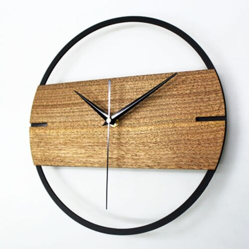 Theatrical Style Wall Clock Creative Nordic Watch Home Decor Wooden 12""