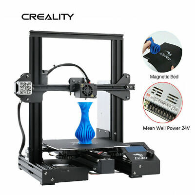 Used Creality Ender 3 Pro 3D Printer 220X220X250mm Mean Well Power 24V US Stock