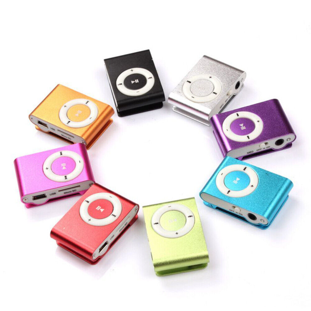 Mini lecteur MP3 Portable en métal avec 5 couleurs fente pour carte SD.