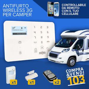 Kit antifurto per camper furgone roulotte allarme for Kit trasformazione furgone in camper