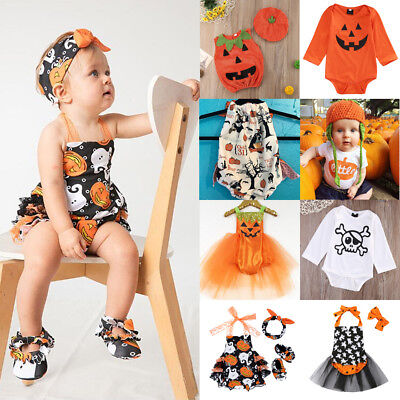 Halloween Clothes Kids (Toddler Baby Kids Girls Halloween Romper Bodysuit Jumpsuit Dress Party)