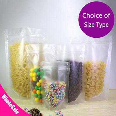 Variety Sizes Matte Translucent Food Storage Mylar Stand Up Zip Lock Bag M44