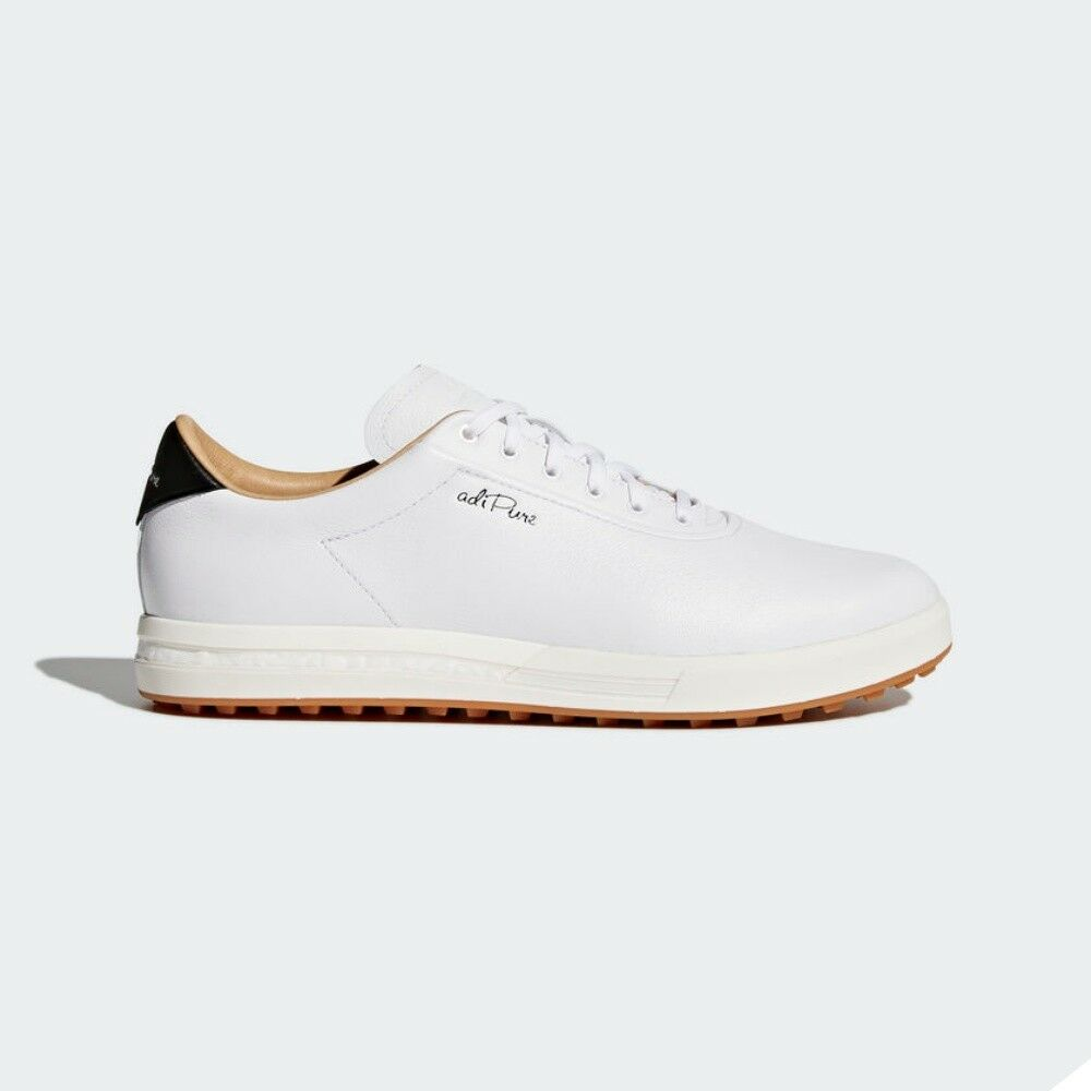 Adidas Adipure Sp Golf Shoes Mens F33746 Leather Mineral White Size 8 12