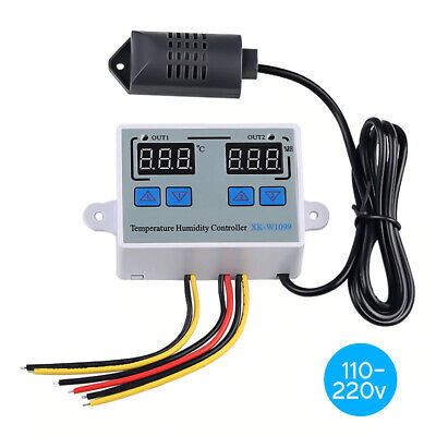 Dual Digital Temperature Humidity Controller Home Fridge Thermostat S7q1