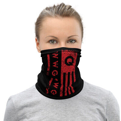 WWG1WGA Qanon Great Awakening Q Flag Mask Face Cover Neck Gaiter