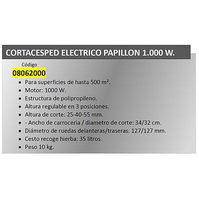 Cortacesped Electrico Papillon 1000 W.