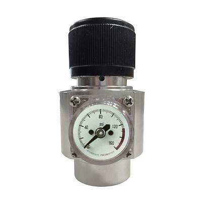 CO2 Cylinder Regulator - Solid Aluminum Body without Belt Clip 125 PSI WRCO2-NC