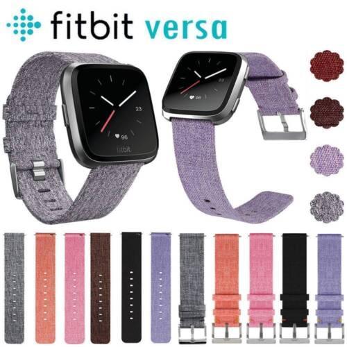 For Fitbit Versa Replacement Woven Fabric Nylon Wristband Wa