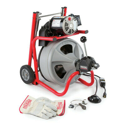 Ridgid K-400 Af Wc-45 Iw 12 X 75 Autofeed Wheeled Drum Machine 27013 New