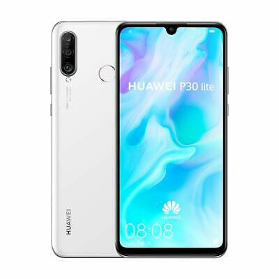 Huawei P30 Lite 128GB Android Smartphone - Pearl White (SIM FREE) (UNLOCKED)