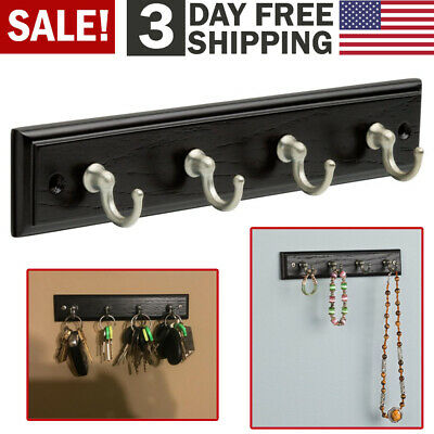 Wall Mount Key Rack Hanger Holder 4 Hook Chain Storage Keys Organizer Home Decor Wall Key Organizer
