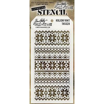 Tim Holtz Collection Holiday Knit Layering Stencil THS028