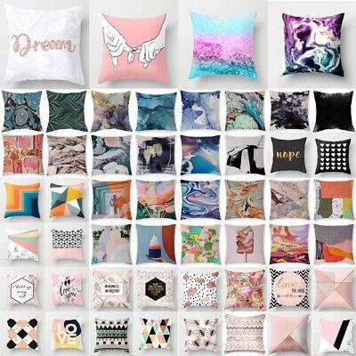 Pillow Cases Linen Throw Cushion Pillowcase for Car Sofa Home Decoration 18x18''