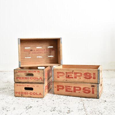 Industrial Vintage Original Vintage Pepsi Cola Crate