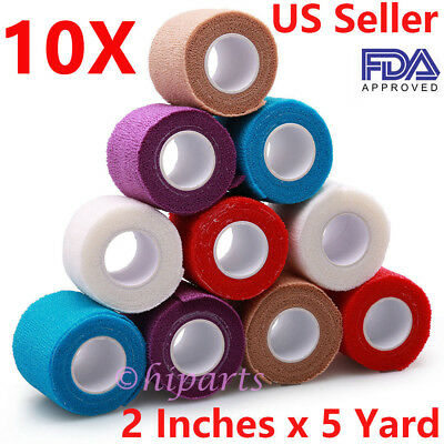 Self Adherent Wrap Adhesive Bandage Gauze Rolls Elastic First Aid Medical - Elastic Adhesive