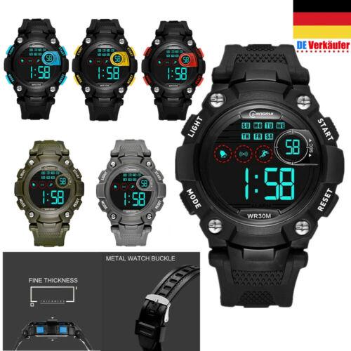 Kinder Digital Uhr LED Armbanduhr Sport Outdoor mit Wecker
