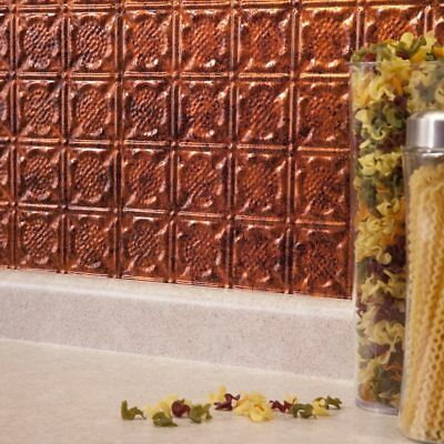 Kitchen Backsplash Copper Decorative Vinyl Panel Wall Tiles Bathroom Tin Metal ()