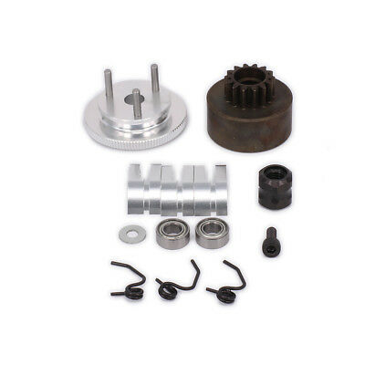 RC Nitro Engine Clutch Bell 14T Gear Flywheel Assembly Kits for 1/8 Scale Car