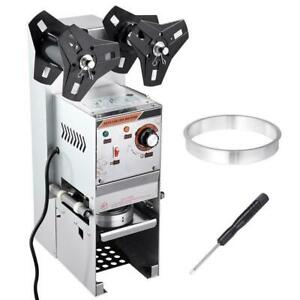 Electric Semi-automatic Bubble Tea Cup Sealer Sealing Machine 400-600 Cups/Hr - FREE SHIPPING