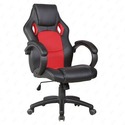 Red Racing Car Chair Gaming Chair Executive Computer Lift Recliner Pu Leather