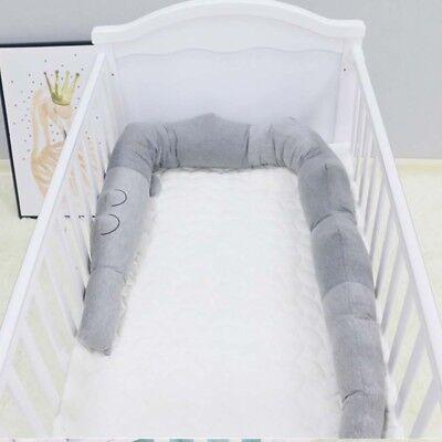 Baby Bumper Infant Crocodile Pillow Newborn Crib Protector Around Guard 185cm Around Crib Bumper
