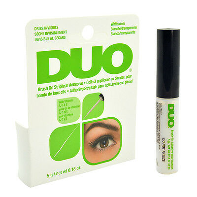 DUO Brush On Striplash Adhesive Eyelash Glue Dries Invisibly White/Clear - White Eyelashes