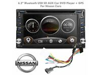 "6.2"" HD Digital Touch Screen Double Din Bluetooth Car CD AUX DVD Player GPS Navigator for Nissan"