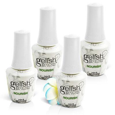 4 Botellas Harmony en Gel Nutriente Aceite para Cutículas 14.8ml Ml