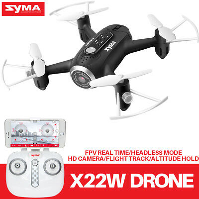 WIFI FPV HD CAMERA MINI DRONE SYMA X22W 2.4GHZ ALTITUDE HOLD HOVER RC QUADCOPTER