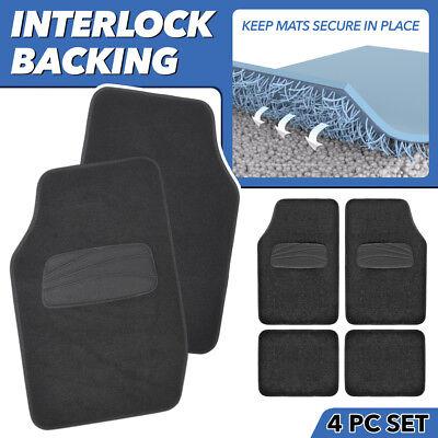 ACDelco InterLock Carpet Car Floor Mats Black Carpet Secure No-Slip