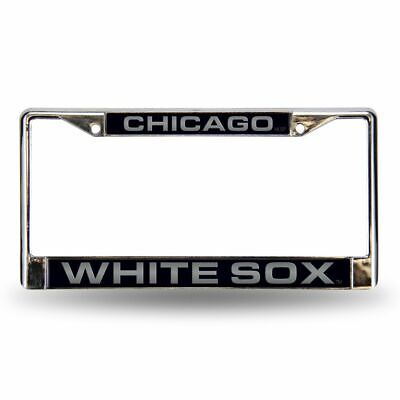 Chicago White Sox MLB Chrome Metal Laser Cut License Plate Frame