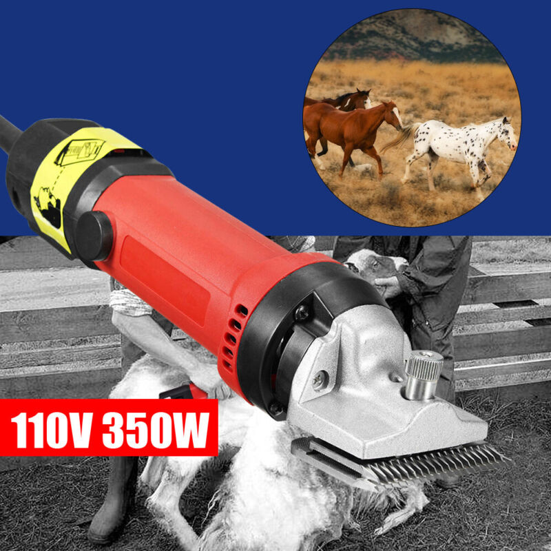 Electric Shearing Shaver Heavy Duty Pet Horse Cattle Animal Hair Clipper Trimmer