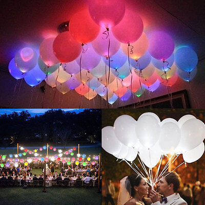 - 50-150 Pack LED Balloons Light Up Balloons PARTY Decoration Wedding Birthday NEW